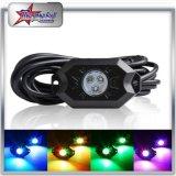 Indicatore luminoso della roccia di RGB LED sotto i baccelli del motociclo 4/6/8/12 del crogiolo di automobili