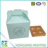 Caixa de bolo de papelão de papel branco especial personalizada com janela