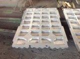 Plaque élevée de maxillaire d'acier de manganèse des pièces de broyeur