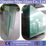 Ясным стекло прокатанное поплавком архитектурноакустическое с Milky белизной PVB