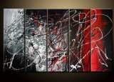 Huile sur toile abstraite - 0102