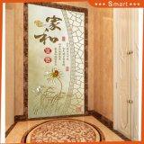 pintura al óleo de la cultura de la obra clásica china del papel de empapelar de las decoraciones de la puerta 3D