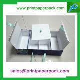 Colorido papel impreso Caja de regalo cosmética de extensión de cabello Caja de embalaje