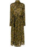 Платье высокой известки вышивки шеи Silk