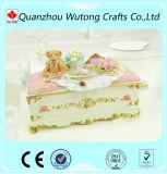 Украшение коробки Jewellery конструкции стула медведя изготовленный на заказ смолаы декоративное