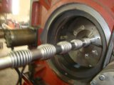 Manguito acanalado flexible hidráulico del acero inoxidable que forma la máquina