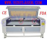 Doppelte Kopf-lederne Laser-Ausschnitt-Maschine von Sunylaser
