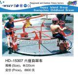 Carrousel d'enfants à chariot à voler à bord contrôlé par les mains (HD-18803)