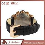 Venda por grosso de couro de moda relógio de pulso para homens