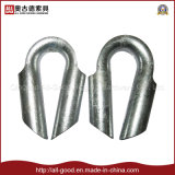 Cosse en tuyau galvanisée par calage de câble métallique