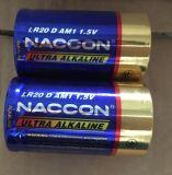 Cellule sèche de pile alcaline de la batterie Lr20 1.5V ultra