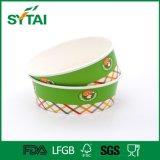 Bol de papier remplaçable de salade pour les aliments de préparation rapide avec le couvercle