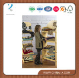 Стеллаж для выставки товаров OEM свободно стоящий деревянный с стучает вниз конструкцией