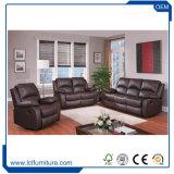 O sofá de couro do plutônio da mobília moderna da HOME do escritório ajustou 1+2+3 com pés do metal