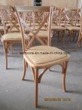 Chêne Vintage/hêtre/salle à manger en bois de bouleau Cross Retour chaise, chaise X RETOUR