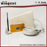 Nuevo aumentador de presión de la señal del teléfono del diseño WCDMA 2100MHz 3G con el LCD