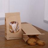 パン屋袋のクラフトの紙袋の錫のタイタブロック袋