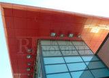 Panneaux de revêtement en aluminium revêtu de PVDF / PE en orange pour la façade