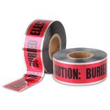 試供品使用できる赤いカラー地下探索可能な警告テープ