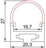 Perfil de aluminio con LED CE 5050 TIRA DE LEDS precio de fábrica