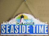 浜の波デザインは印刷の金属の壁の装飾のプラクを浮彫りにする