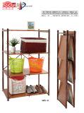 Muebles de oficina plegable plegable de bandeja de almacenamiento de grano de madera de simulación Rack Color
