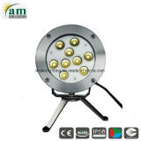 Fuente LED 27W Lámpara LED de luz superior exterior IP68 LED 18W de iluminación subacuática