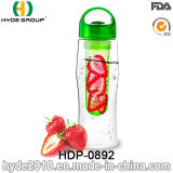 la bottiglia di acqua di plastica di Infuser della frutta di vendita calda 750ml, BPA libera la bottiglia di acqua di Tritan (HDP-0892)