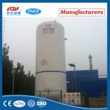 De verticale Cryogene Tank van de Opslag van het Argon van de Isolatie van het Roestvrij staal Vloeibare