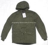 Revestimento / casaco de lazer de lavagem de homens de inverno com capuz