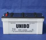 A bateria JIS N200 padrão 12V200ah 12volt do caminhão seca a bateria acidificada ao chumbo cobrada do barramento