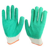 Katoenen van het latex de Vlotte Met een laag bedekte Handschoenen van de Hand voor Bouw