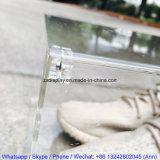 Rectángulo de zapato claro de acrílico del frente de gota de la puerta magnética al por mayor de encargo