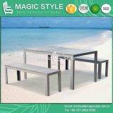 La poli de aluminio juego de comedor de madera taburete taburete comedor comedor patio al aire libre juego de comedor de estilo (Magic)