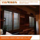 A qualidade superior manchou o obturador de madeira personalizado da plantação