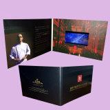 Изготовленный на заказ карточка приглашения LCD видео-