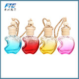 Bouteille de parfum vide colorée pendante de véhicule de parfum de verre cristal