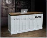 De moderne Witte Bureaus van de Ontvangst van de Lijst van de Ontvangst van het Ontwerp van de Douane Tegen voor Winkel Caffe