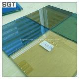 vidro desobstruído de vidro matizado & reflexivo de 4mm-19mm de flutuador para a parede de cortina