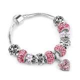 2017 braccialetto in rilievo di amore completo del diamante DIY di colore rosa caldo