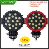 Modelo quente LED de luz de trabalho levou o LED de luz de direção esquerdo 51W 6 polegada