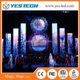 の段階、コンサート、スポーツのためのフルカラーの屋外か屋内使用料LEDのビデオ壁広告
