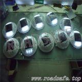 번쩍이는 8PCS LED 플라스틱 둥근 태양 도로 장식 못