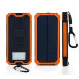 LEDの懐中電燈の太陽エネルギーバンク10000mAh