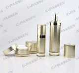 Luxuxgoldacrylsahneglas-Behälter-Flasche für das Kosmetik-Verpacken (PPC-CPS-063)