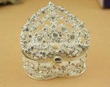 [رترو] مستديرة مجوهرات [ستورج بوإكس], معدن مجوهرات صندوق محدّد