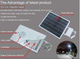 20W painel todo do diodo emissor de luz 50W em uma luz de rua solar