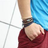 Neue Form-Zubehör-Anker-Raupe-Leder-Armbänder