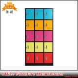 Bon marché coloré 15-porte de salle de gym casier métallique