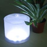 Foldable 팽창식 태양 손전등 공간 덮개 태양 LED 손전등 10LED 태양 램프